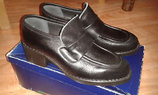 VeryRare!New/box Domani Harrods girls school shoes size 4G made in England