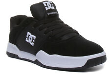 Dc Shoes Central Mens Leather Trainers In Black White Size UK 6 - 12
