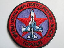 Topgun Fighter Weapons School - Embroidered  Iron or Sew On Patch - P086