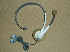 MICROSOFT XBOX 360 OFFICIAL LIVE HEADSET MICROPHONE Genuine Mic Wired in White