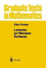Lectures on Riemann Surfaces: By Otto Forster