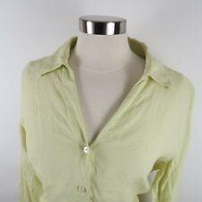 Talbots Womens Pure Irish Linen LS Button Down Pastel Green Blouse Shirt 16W