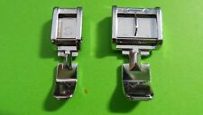 2 Sewing Machines Invisible Zipper Foot Presser for Pfaff, Singer AEG Medion