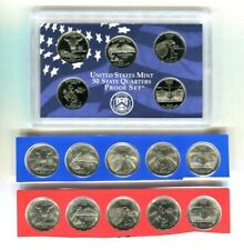 2007 P D S 15 COIN STATE QUARTER SET UNC & PROOF SATIN FINISH sealed