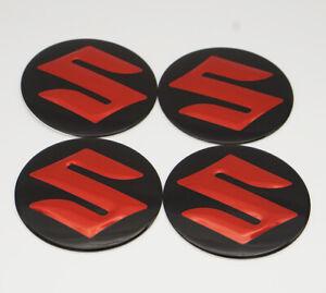4x 56.5mm Car Wheel Center Hub Caps Covers Emblems Sticker Decal Logo For Suzuki