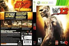 WWE '12 (Microsoft Xbox 360, 2011), Original Case, Free Shipping