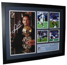 Roberto Baggio Signed Italy World Cup Photo Framed - Memorabilia - Ltd Edition