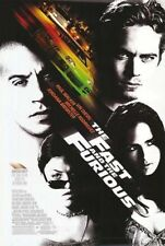 THE FAST AND THE FURIOUS MOVIE POSTER 2 Sided ORIGINAL 27x40 VIN DIESEL