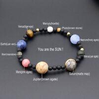 schmuck naturstein galaxy - armband mit neun planeten sonnensystem armband