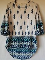 Yellow Chair Tunic Top Blouse Size Small Boho Hippie