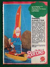 VV93 Pubblicità Advertising Clipping 19x13 cm (70s) BARBIE CATAMARANO MATTEL