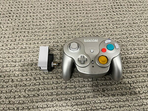 Nintendo GameCube Platinum Wavebird Controller and Receiver Tested and Working