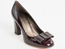 New Donna Serena Bordo Patent Leather Made in Italy Shoes Size 39 US 9