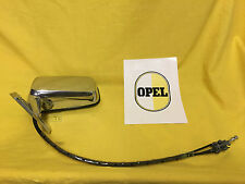 NEU + ORIG Opel Außenspiegel links Kadett C innenverstellbar Spiegel Chrom NOS