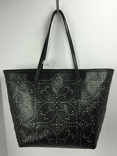 COACH F35163 Large Street Mini Stud Tote Carry All Women's Leather Black NWT
