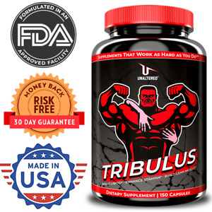 Testosterone Booster Pills for Men with Tribulus & Vitamin D - Male Enhancement