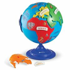 Kids Globe Puzzle Toy 14Pc Plastic Activity Play Set Geography Learning Toddler