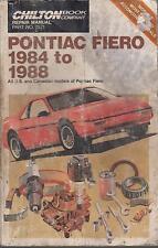 PONTIAC FIERO ( 2.5 & 2.8 LITRE ) 1984 - 1988 OWNERS REPAIR MANUAL