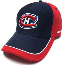 Montreal Canadiens NHL Reebok Navy Blue Red Trim Hat Cap Adult Men's Adjustable