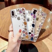 For iPhone 8 X XS Max Xr Luxury Bling Diamond Pearl Clear Protective Case Cover