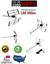 180 Miles Amplified Antenna Hd Tv Outdoor 1080p Digital Directional Hdtv Uhf