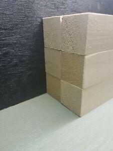"1 1/2""×1 1/2"" x 12"" 6 pcs Basswood Carving Wood Blocks Craft Lumber KILN DRIED"