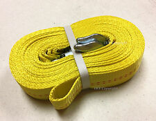 Heavy Duty 2 inches x 30 ft Tow Strap with 2 Safety Hooks 2
