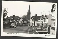 Postcard Weobley near Hereford vintage view RP #65