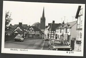 Postcard Weobley near Hereford vintage view RP #65
