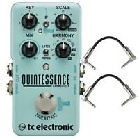 TC Electronic Quintessence Harmonizer Dual Voiced Guitar Effects Pedal + Cables