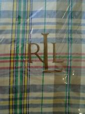New Ralph Lauren Boathouse Madras King Pillow Sham