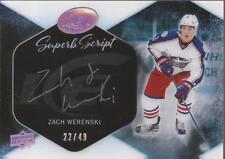 ZACH WERENSKI 2016-17 Upper Deck Ice Superb Script Rookie Autograph #22/49