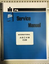 A, SUPER A International Tractor Technical Service Shop Repair Manual Farmall