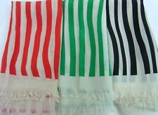 Striped 100% Silk Scarves for Women