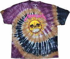 Men's Metallica Pushead Sun Retro Vintage Tie Dye Rock N Roll Band T-Shirt Tee