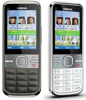 NEW CONDITION NOKIA C5-00 BLACK UNLOCKED EASY MOBILE PHONE BLUETOOTH 5MP CAMERA