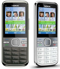 NEW CONDITION NOKIA C5-00 BLACK UNLOCKED EASY MOBILE PHONE BLUETOOTH 5MP CAMERA