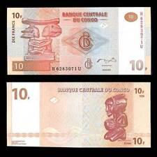 Congo 10 franc 2003 p 93 unc