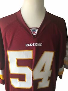 Jeremiah Trotter Authentic Washington Redskins Reebok #54 Football Jersey - 54