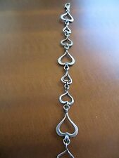 "RETIRED SILPADA ""SPREAD THE LOVE"" Hearts Links  Bracelet Sterling  B1701 7.5"""