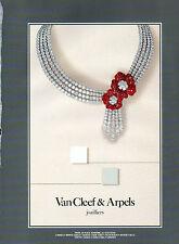 Publicité 2000  Van Cleef & Arpels joaillier bijoux collier bague collection
