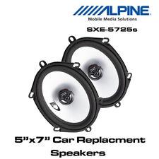 "Alpine SXE-5725s - 5""x7""  5x7 2-Way Car Coaxial Speakers 400W Total Power"