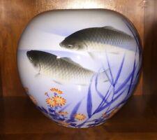 Japanische Fukagawa Mt. Fuji Mark porcelain vase Porzellan selten Vase Japan