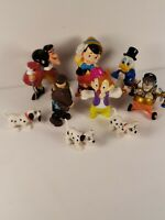 Disney Figures Lot 9 Collectible Vintage Toys 101 Dalmatians Captain Hook Dale