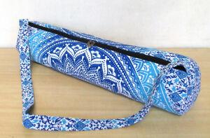 Mandala Handmade Bag Mat Yoga Carrier Strap Shoulder Gym Bag Hippie Indian Ombre