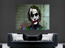 THE JOKER BATMAN HEATH LEDGER COMIC WALL POSTER ART PICTURE PRINT LARGE HUGE