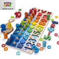 Kids Busy Board Math Preschool Montessori Educational Wooden Toys Children