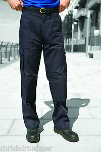 Harbour Lights Mens Workwear Trousers - Black Size 46 Tall
