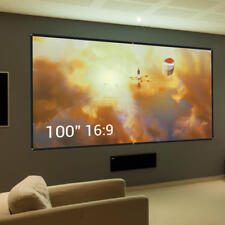 "100"" 16:9 Projector Projection Screen Theater Movie Office PPT for Wall/Ceiling"