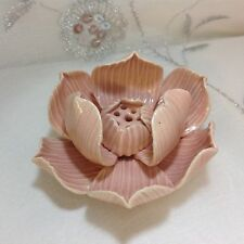 NEW PINK LOTUS ASH CATCHER INCENSE STICK HOLDER / BURNER FENG SHUI